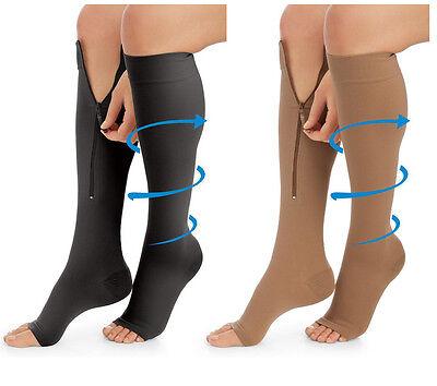 Unisex Women & Men Compression Stockings Zipper Leg Socks