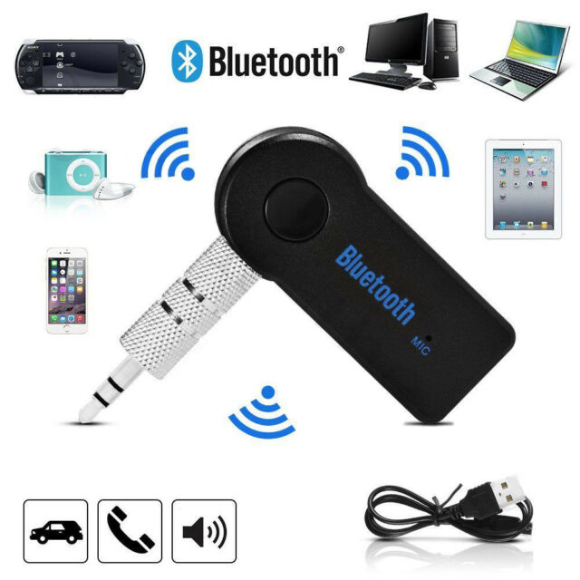 Wireless 3.5mm Phone to AUX Car Music Stereo Receiver Adapter Bluetooth with Mic