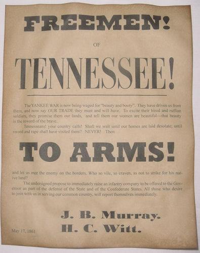 Pensacola Florida Tennessee wanted Civil War Confederate Recruiting Poster Set
