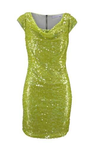 Marc New York Marken Paillettenkleid grün Gr 34 36 38 40 42 Abendkleid Kleid