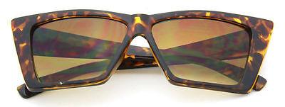 Cat Eye Women Sunglasses Brown Geometric Designer Vintage Style