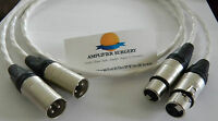 2x Silver Plated 2m Balanced Xlr Interconnect Cable For Krell Amp Made In Usa