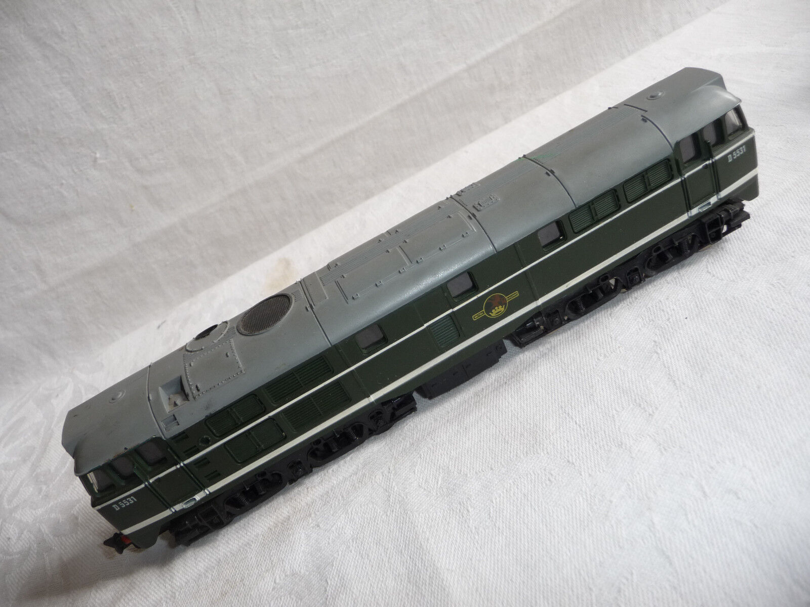 Train AIRFIX   GMR KIT BUILT BR GREEN CLASS 31 A1A-A1A DIESEL LOCO D5531
