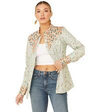 Wrangler Womens Floral Yoke Long Sleeve Snap Western Shirt Lw3006m