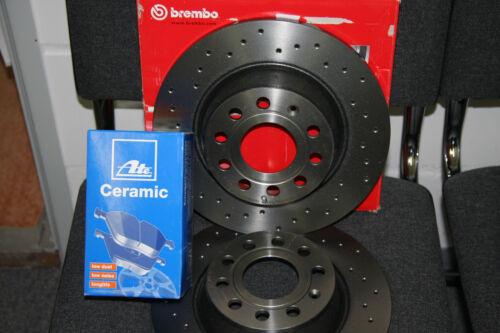 Skoda Brembo XTRA Bremsscheiben und Ate Ceramic-beläge Audi VW  Satz hinten