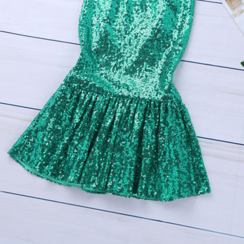 Girl Kid Mermaid Princess Costume Party Book Week Cosplay Tail Skirt Fancy Dress
