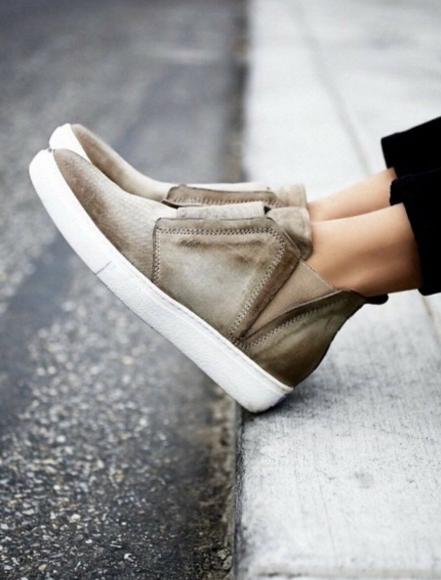 NEW Free People x MJUS Master High Top baskets Taille 37 Taupe
