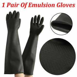 Haushaltshandschuhe-60cm-Extra-Lang-Gummihandschuhe-Natur-Rubber-Gloves-Chemica