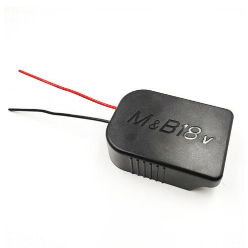 Pour Makita Bosch 18V Batterie LI-ION Converti pour DIY Câble Brancher Sortie