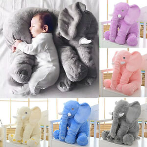 New-Elephant-Plush-Toy-Long-Nose-Lumbar-Pillow-Soft-Stuffed-Animal-For-Baby-BH