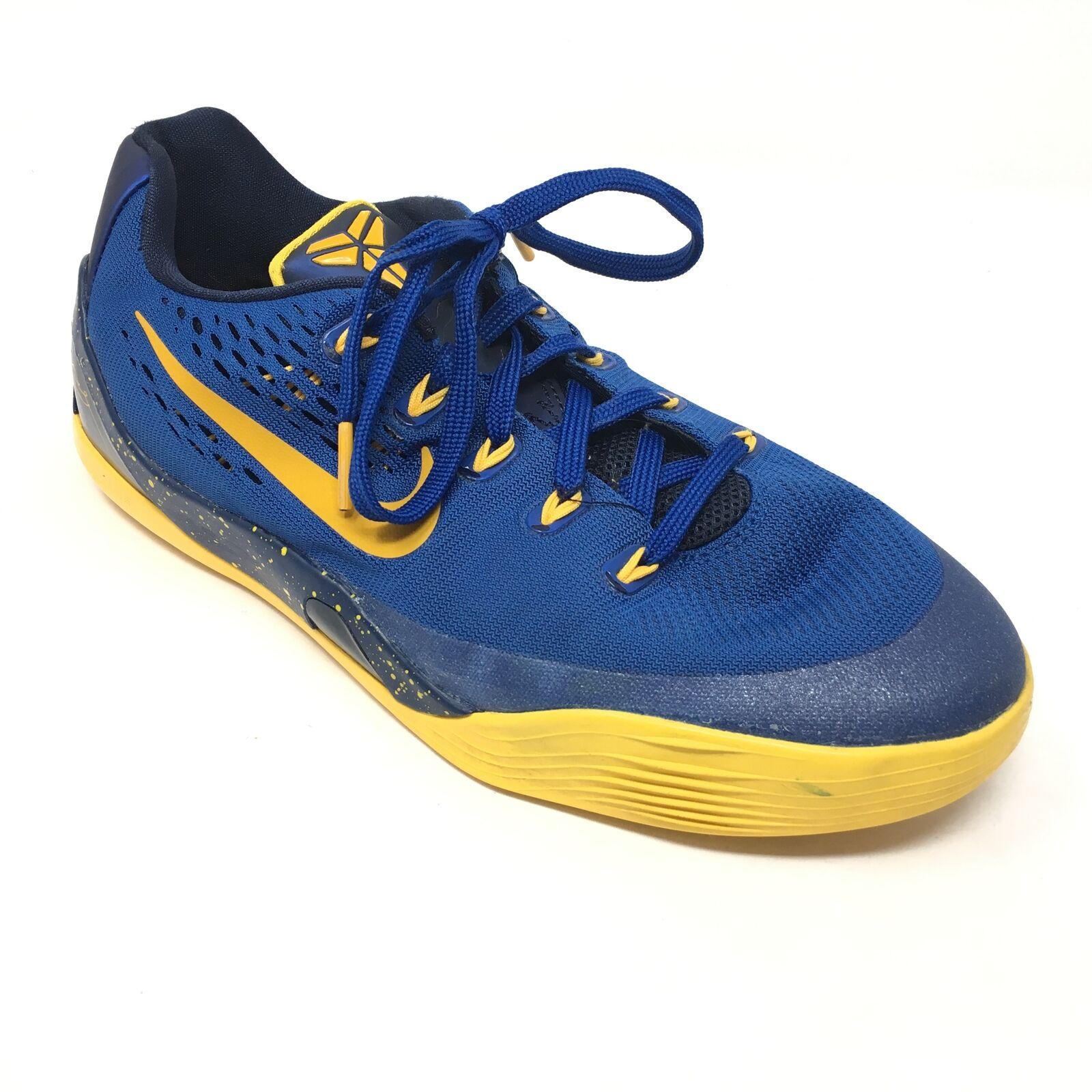 Men's Nike Kobe IX 9 EM Basketball shoes Sneakers Size 7M Gym bluee gold P12