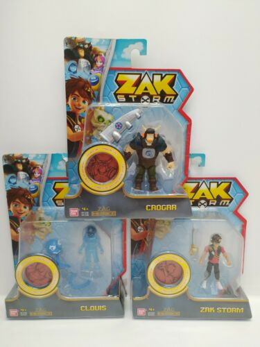 Damaged Packaging Job lot 3 x Zak Storm figures Zak Storm /& Crogar Clouis