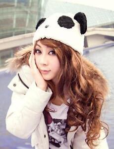 Fashion Cartoon Animal Cute Panda Girls Warm Winter Hat Cap Fluffy ... 63b7677155e