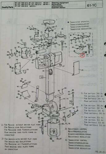 F1250 F1000 Lsv 106063 BT//Toyota Stacker Lsv Details about  /Potentiometer For BT No