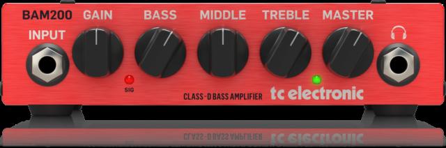 New TC Electronic BAM200 Ultra-Compact 200 Watt Class-D Bass Head Auth Dealer!