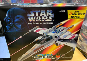 Star-Wars-The-Power-Of-The-Force-Electronic-X-Wing-Fighter-Kenner-1995-Complete