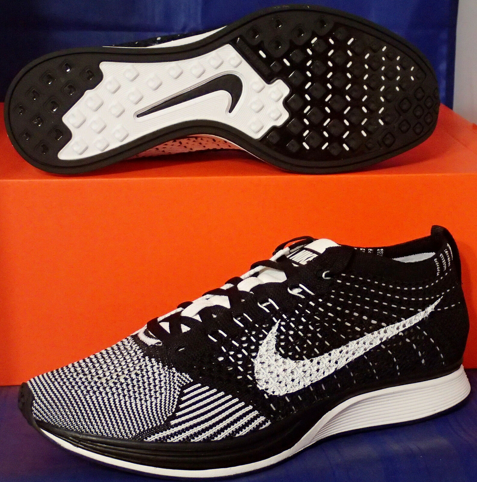 2018 Nike Flyknit Racer Black White Price reduction The latest discount shoes for men and women