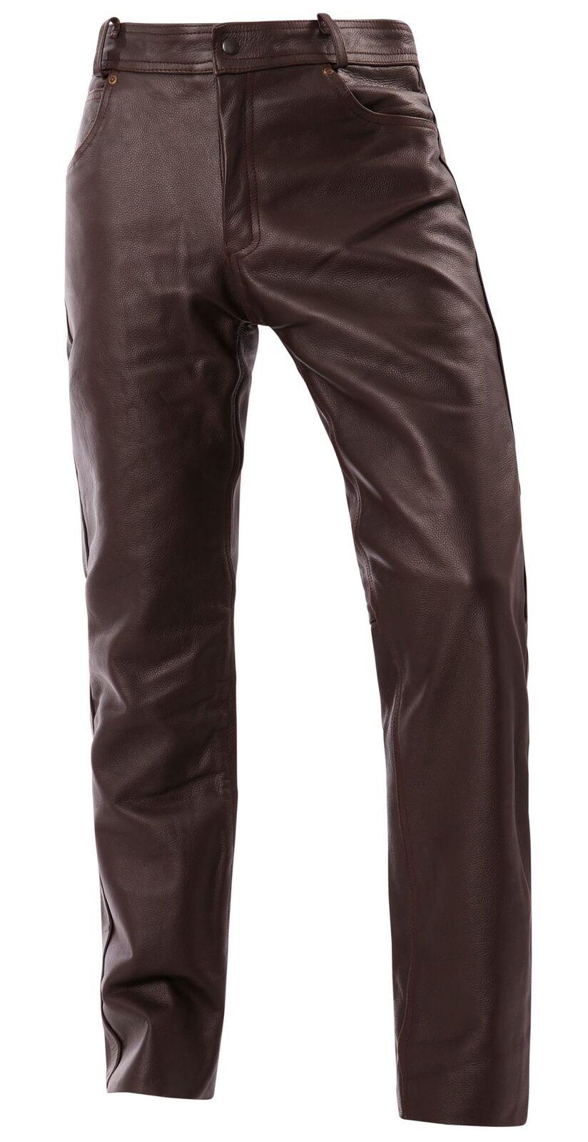 Bangla Herren Bekleidung Motorrad Lederhose 1507 Braun 29-34