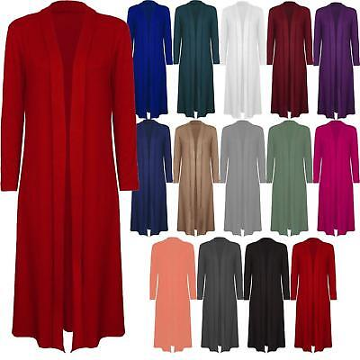 Women/'s Chiffon Long Maxi Cardigan Top Ladies Lovely Dress UK Regular 8-26