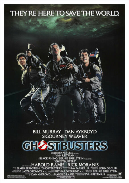 Ghostbusters (1984) - A2 A3 A4 POSTER ***RETOUCHED AND RESTORED***