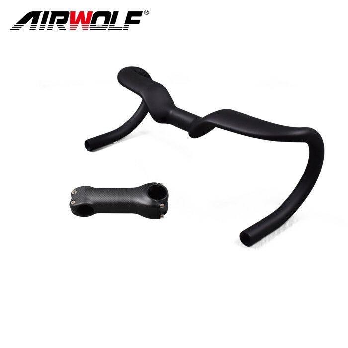 Road bike carbon drop handlebar 31.8400/420/440mm 6 degree racing bicycle stem