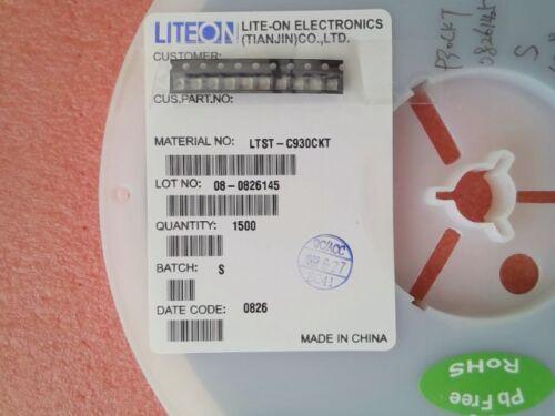 638nm 10 Stück Standard LEDs NEU SMD LTST-C930CKT Rot