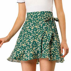 ZANZEA 8-24 Women Summer Zip Up Tie Maxi Skirt Sarong High Waist Floral Dress