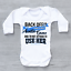 Personalised Back Off I Have A Crazy Auntie Funny Boys Baby Grow Bodysuit