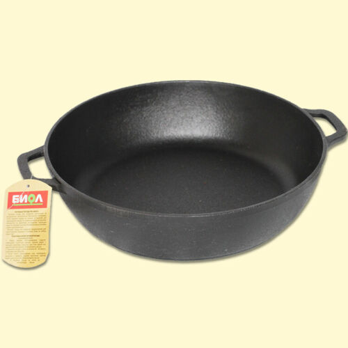 Pfanne Bratpfanne Steakpfanne Grillpfanne aus Gusseisen alle Herdarten 28 cm