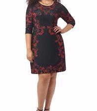 Triste Baroque Printed Shift Women Dress Size 2X