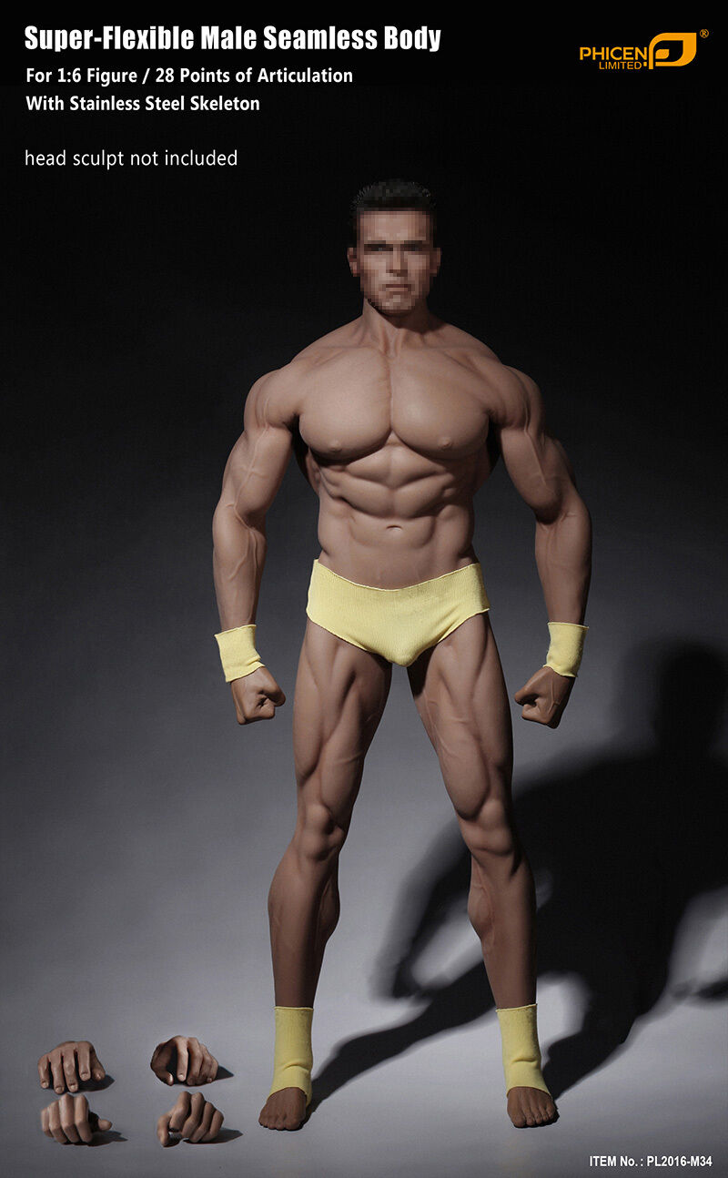 Phicen Phicen Phicen 1 6 Scale PL2016-M34 Seamless Advanced Muscular Body 0ee9b0