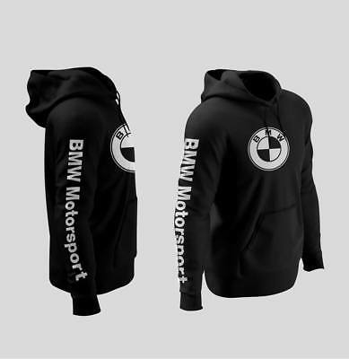 BMW logo Hoodies Black S-3XL size