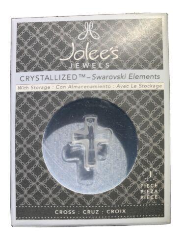 EK Jolees Jewels Swarovski Austrian Crystal Frosted Faceted Cross 16x20mm 1pc