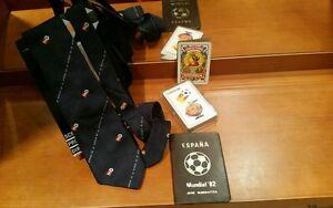 España 82 lote corbata , baraja de cartas,serie numismatica , naranjito, futbol - España - España 82 lote corbata , baraja de cartas,serie numismatica , naranjito, futbol - España