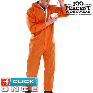 Click-Once-Orange-Disposable-Coverall-Overall-Boiler-Suit-Type-5-6-Protection