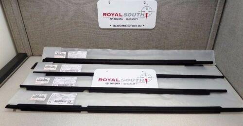 Toyota 4Runner 03-09 Door Belt Moulding Weatherstrip Set 4pc Genuine OEM OE