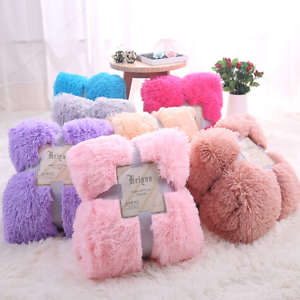 Shaggy Warm Cozy Blanket Super Soft Plush Fluffy Faux Fur Sheet Bed Sofa Carpet