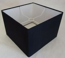 "Contemporary Medium Size Square Lamp Shade 14"" Dia. 10"" H - Black Fabric"