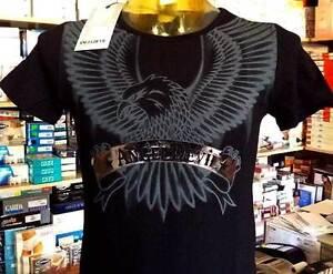 T-shirt-herren-Angel-Devil-rundhalsausschnitt-mit-druck-fluegel-e-logo-silbrig
