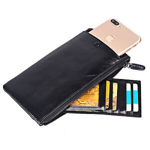 New-Genuine-Leather-Card-Wallet-Purse-Zipper-Long-Bag-Case-For-Mobile-Phone-5-5-034