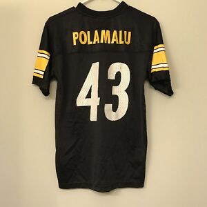 finest selection ddf93 d5606 Pittsburgh Steelers #43 Troy Polamalu Jersey Youth Large 14 ...