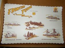 2 Vintage Frontier Town North Hudson NY Souvenir Placemats Adirondacks