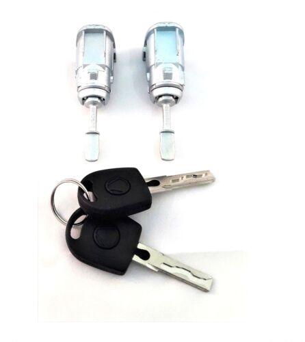 2x Cylindre de serrure porte avant gauche droite VW POLO 9N FOX NEW BEETLE !