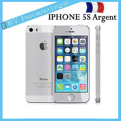 """APPLE Iphone 5S 16 Go ARGENT - """"DÉBLOQUÉ TOUT OPÉRATEUR"""" Garantie 6 mois"""