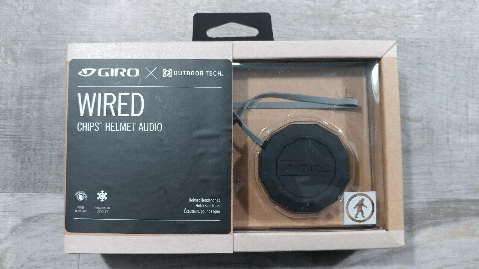 Giro Outdoor Tech Wired Audio Chips Helmet Headphones 8035422