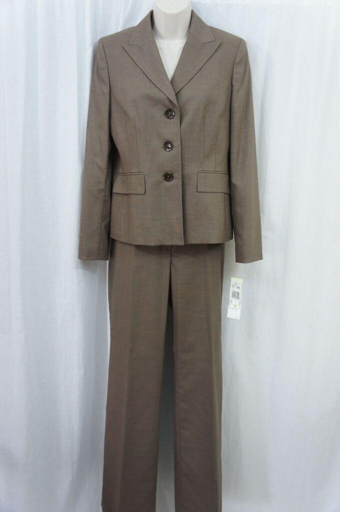 Kasper Pant Suit Sz 4 Café bspringaa Multi Wien bilier bussiness Pant Suit