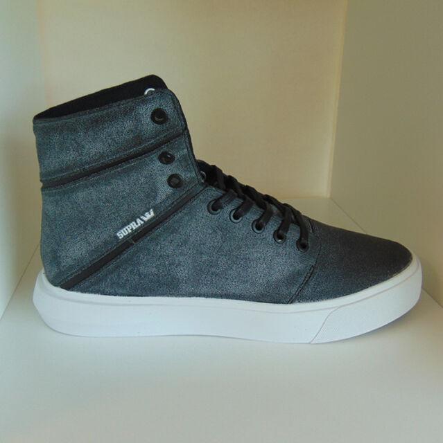 719e075faa92 Supra Camino Grey Waxed Canvas UK 9 Hi Top mens trainers brand new