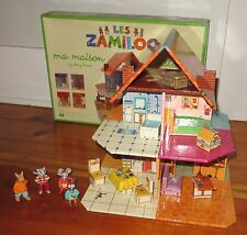Djeco Les Zamiloo  My Story House fold up Dollhouse with Furniture and figures
