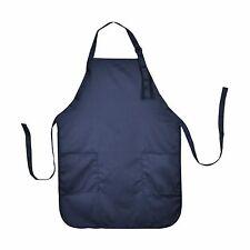 Apron Commercial Restaurant Home Bib Spun Poly Cotton Kitchen Aprons (2 Pockets)