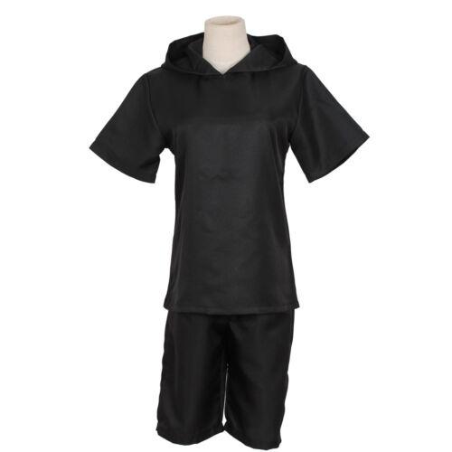 Tokyo Ghoul Kaneki Ken Black Hoodie Sweater Leather Inner Cosplay Costume Outfit